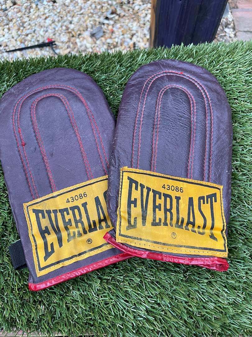"""Lot # 43 Vintage """"Everlast"""" Training Gloves (main image)"""