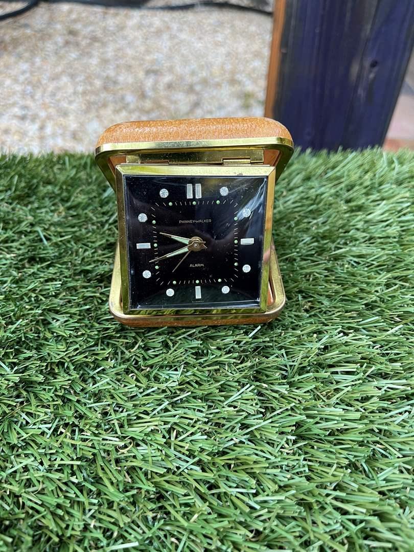 Lot # 59 Vintage Travel Clock with Rhinestones (main image)
