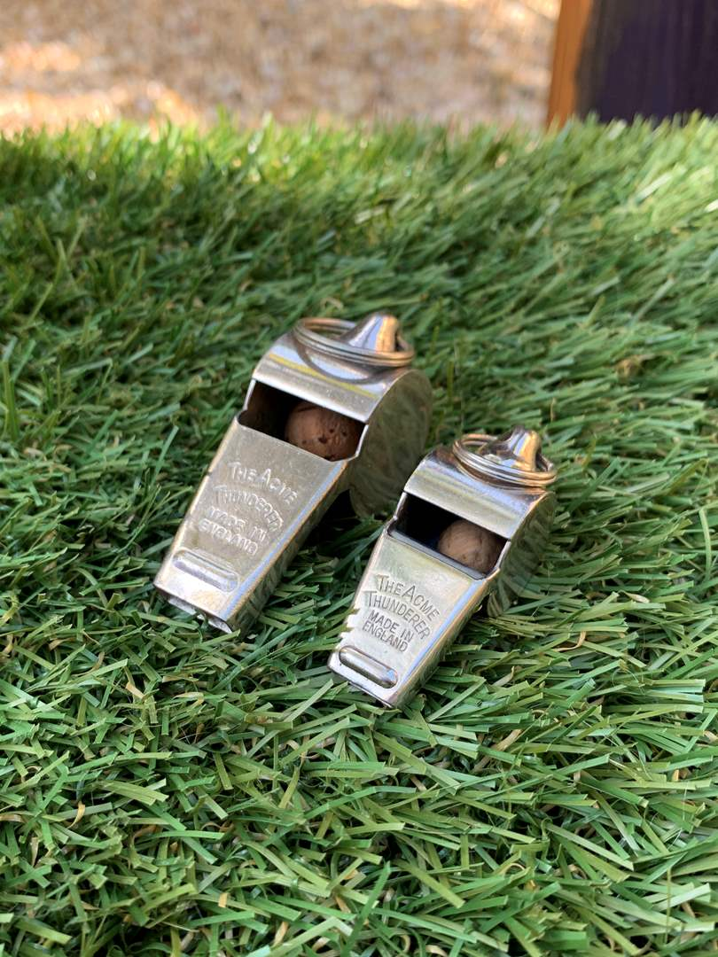 """Lot # 73 Vintage """"The ACME"""" Thunderer Made in England Whistles (main image)"""