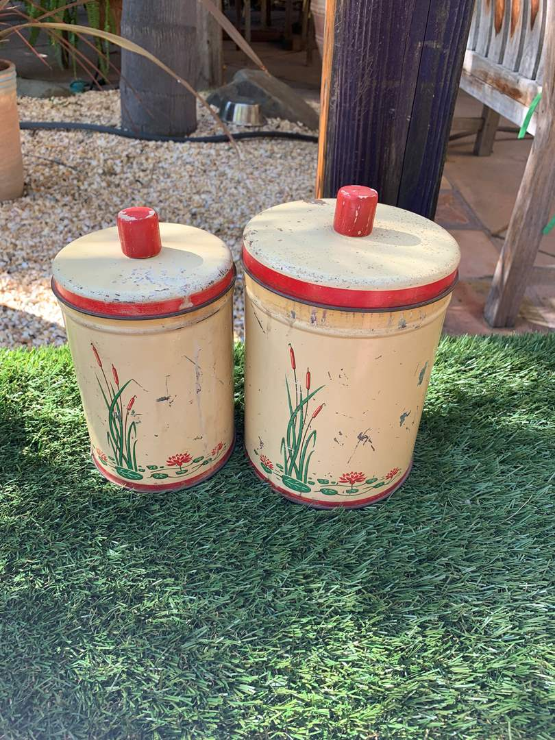 Lot # 101 Antique Canisters (main image)