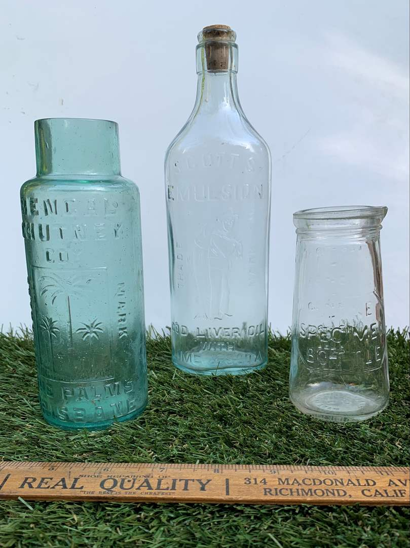 Lot # 197 Vintage Advertisement Bottles (main image)