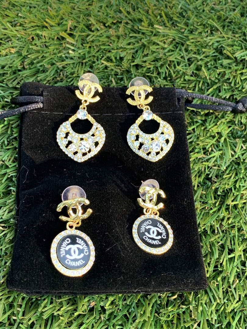 Lot # 188 Designer Inspired Earrings - 2 pairs (main image)