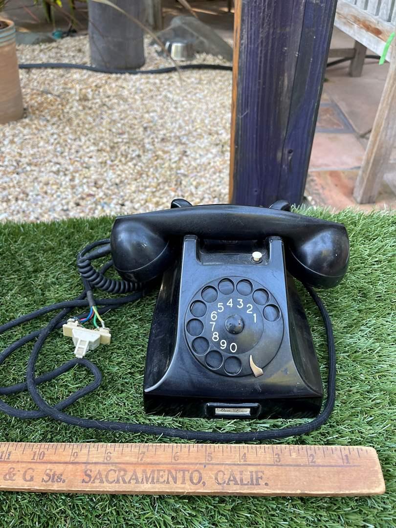 Lot # 75 Antique Dial Phone (main image)