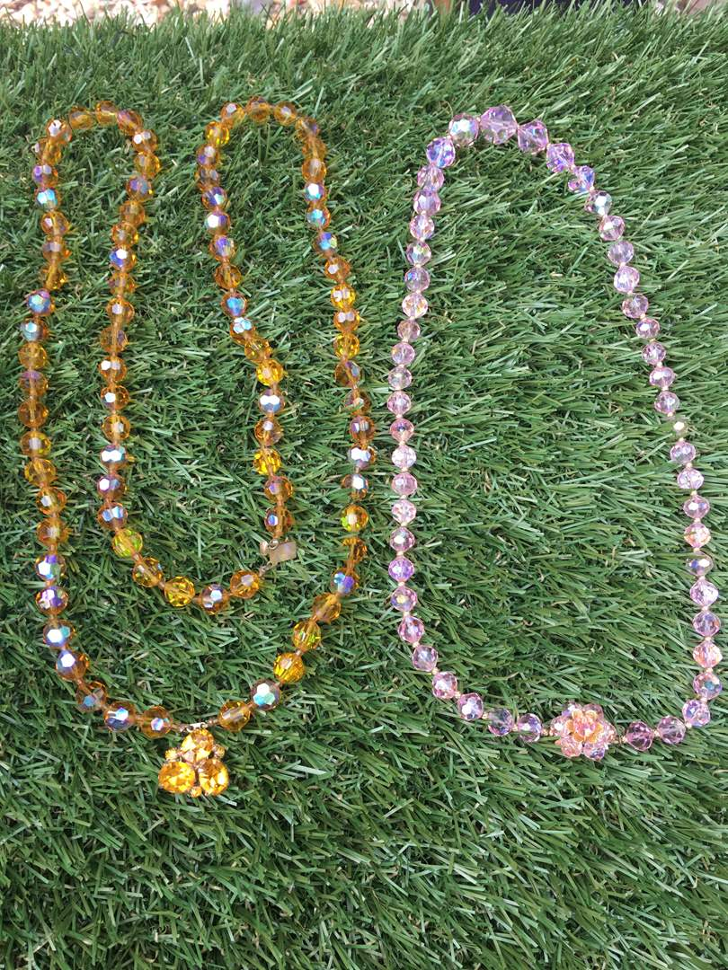 Lot # 198 Vintage Glass Bead Necklaces (main image)