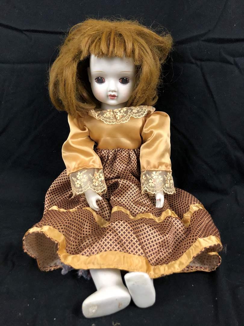 Lot # 233 Vintage Porcelain Doll - needs a little TLC (main image)