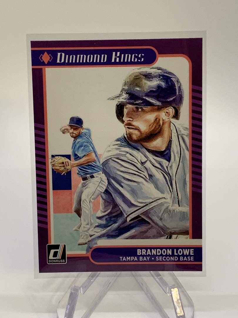 Lot # 27 2021 Panini Donruss BRANDON LOWE Diamond Kings (main image)