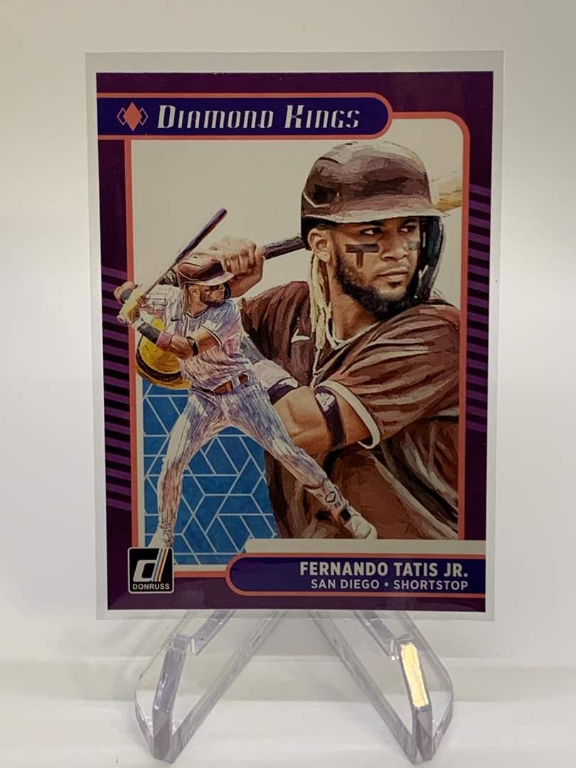 Lot # 28 2021 Panini Donruss FERNANDO TATIS JR Diamond Kings (main image)