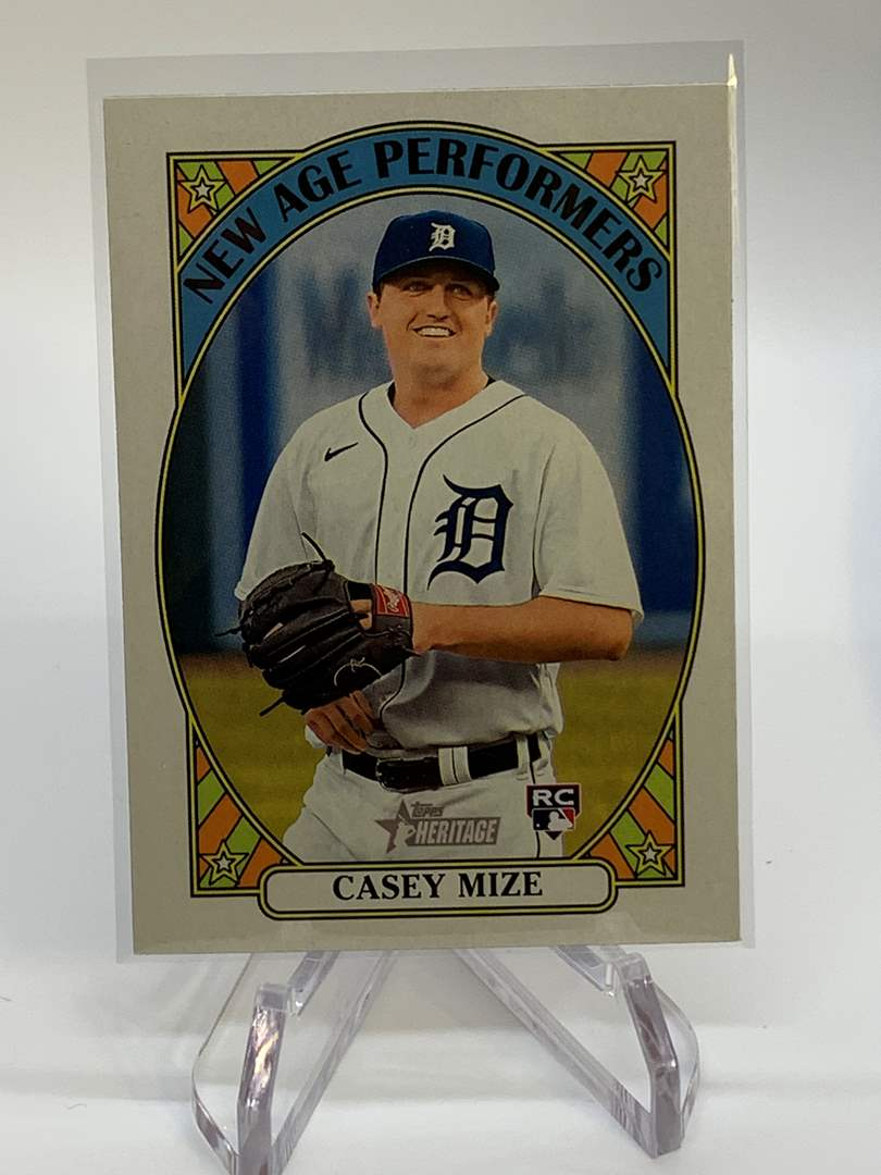 Lot # 60 2021 Topps Heritage CASEY MIZE New Age Performers (main image)