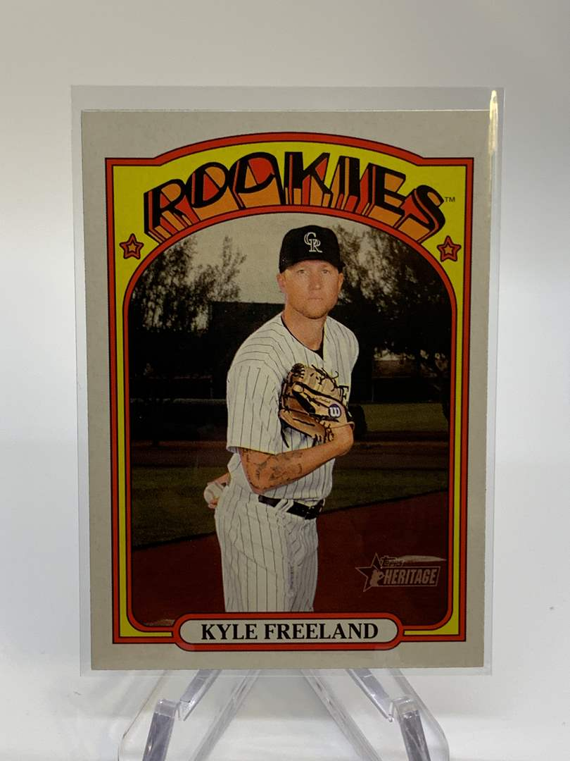Lot # 65 2021 Topps Heritage KYLE FREELAND (main image)