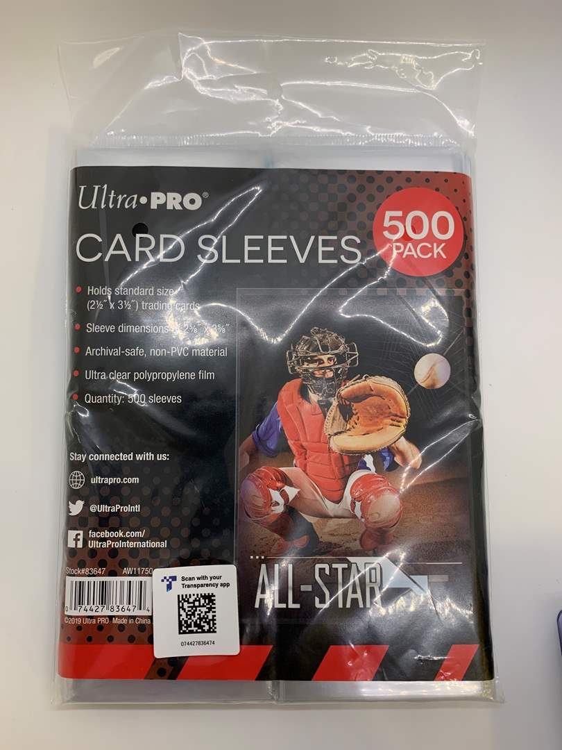 Lot # 78 Ultra Pro 500 Pack Card Sleeves (main image)