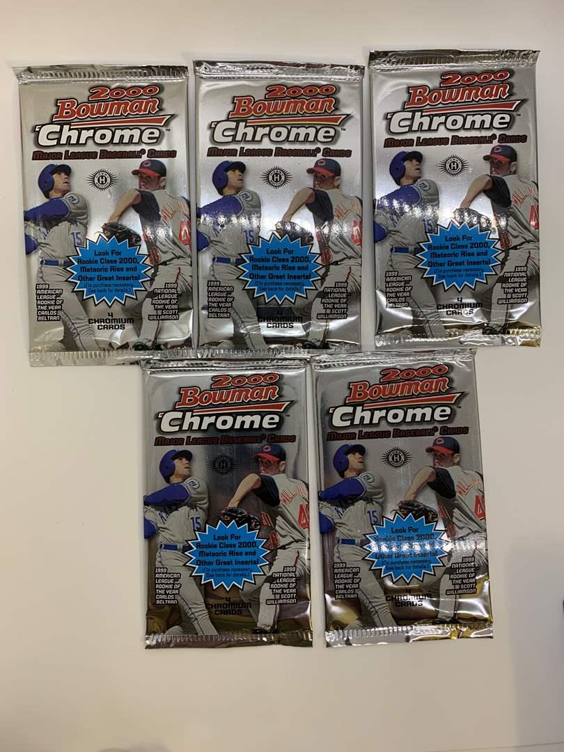 Lot # 80 Lot of 5 Sealed 2000 Bowman Chrome Packs (main image)