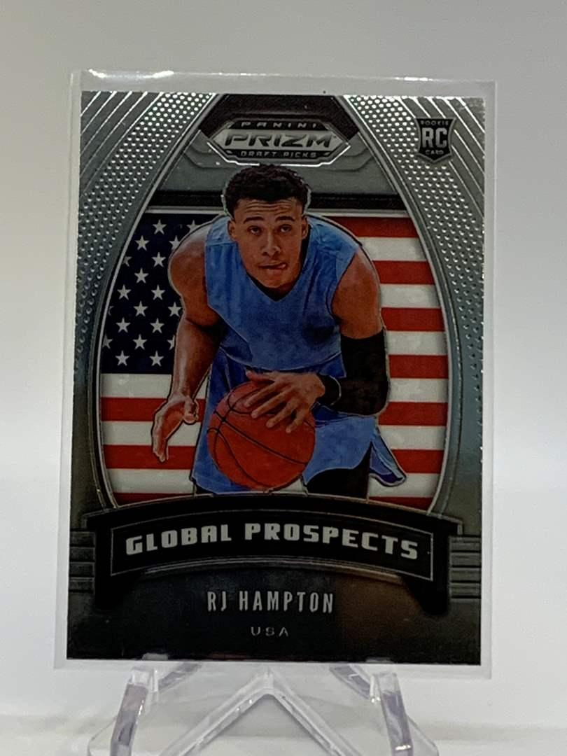 Lot # 96 2020 Panini Prizm Draft RJ HAMPTON Global Prospects (main image)