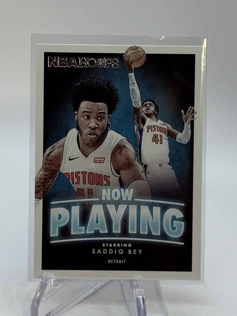 Lot # 122 2020-21 Panini NBA Hoops SADDIQ BEY Now Playing (main image)