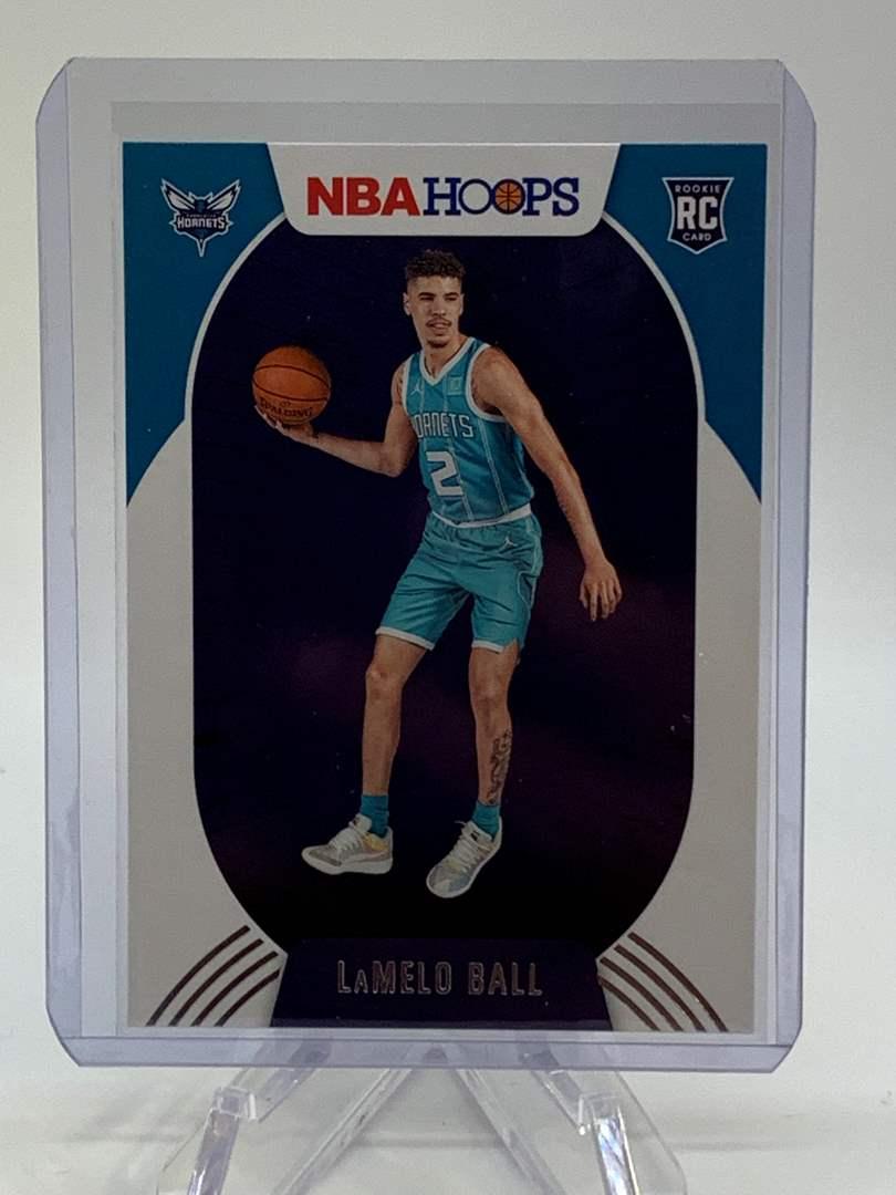 Lot # 143 2020-21 Panini NBA Hoops LAMELO BALL (main image)