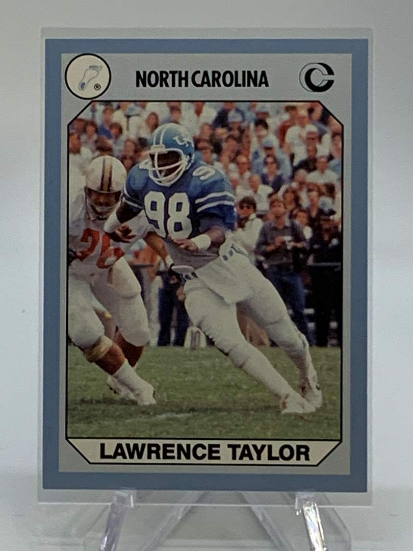 Lot # 150 1990 Collegiate Collections LAWRENCE TAYLOR (main image)