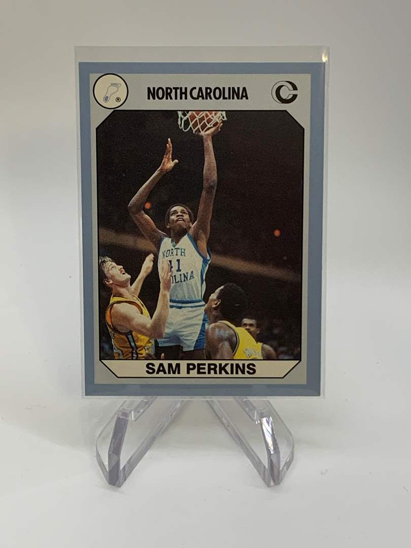 Lot # 152 1990 Collegiate Collections SAM PERKINS (main image)