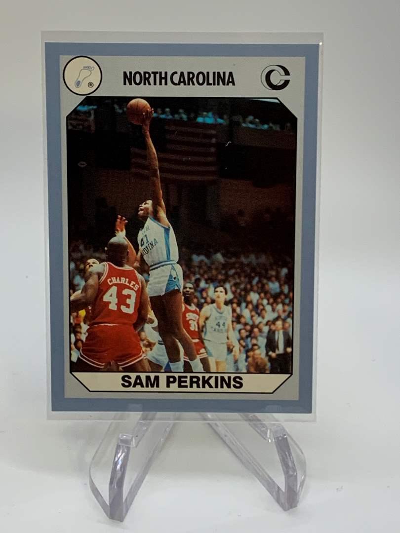Lot # 155 1990 Collegiate Collections SAM PERKINS (main image)