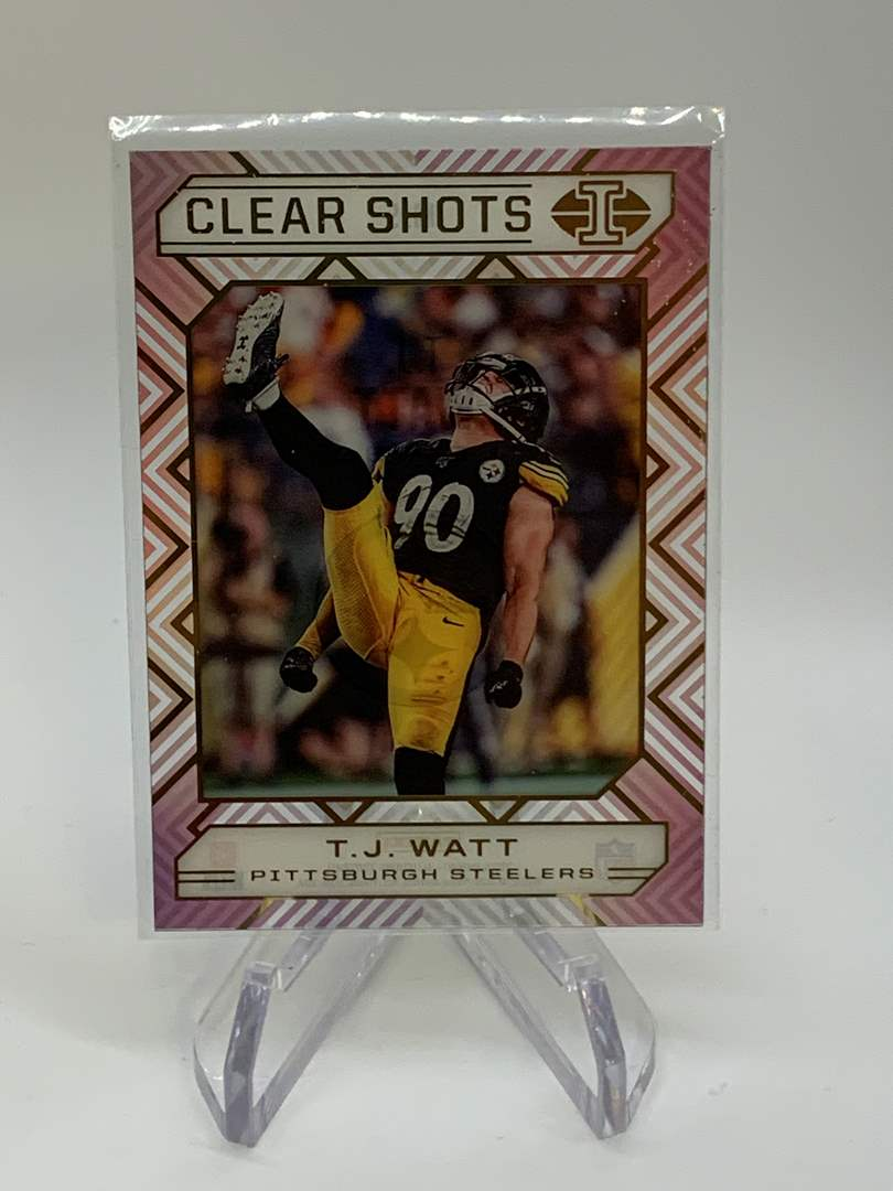 Lot # 158 2020 Panini Illusions T.J. WATT Clear Shots (main image)