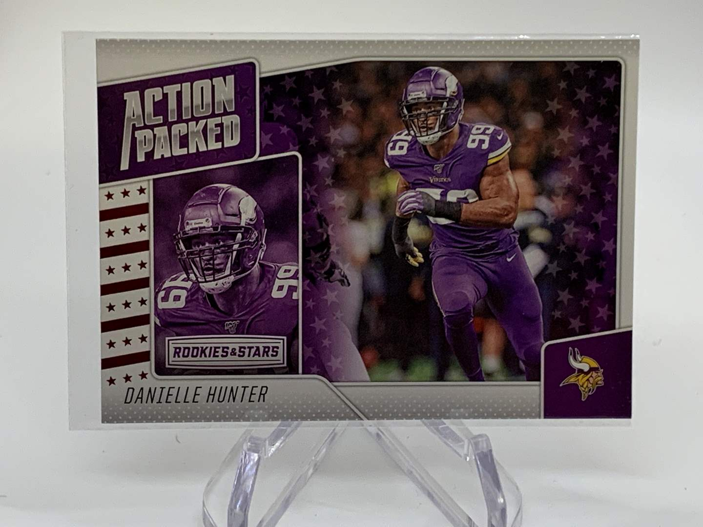Lot # 180 2020 Panini Rookies & Stars DANIELLE HUNTER Action Packed (main image)