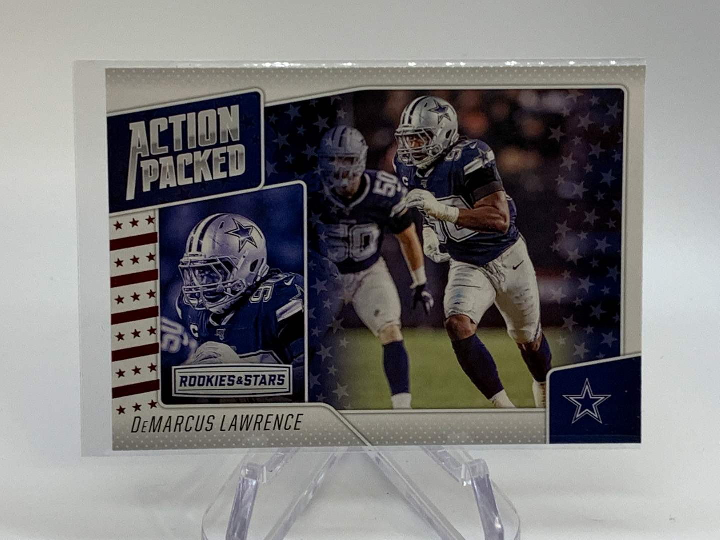 Lot # 203 2020 Panini Rookies & Stars DEMARCUS LAWRENCE Action Packed (main image)