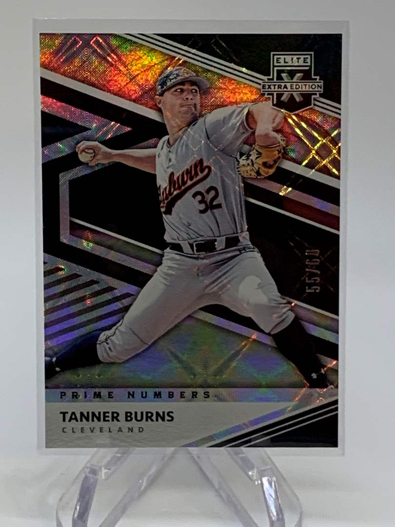 Lot # 244 2020 Panini Elite Extra Edition TANNER BURNS #55/60 (main image)