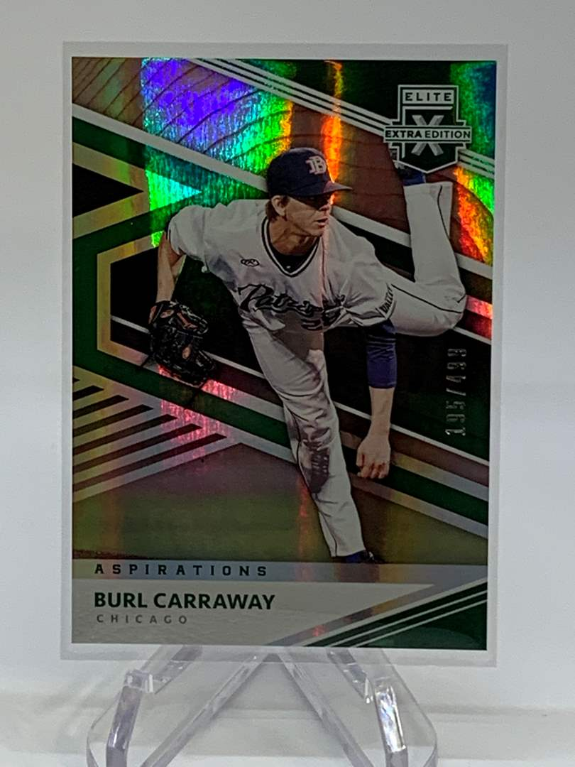 Lot # 252 2020 Panini Elite Extra Edition BURL CARRAWAY #195/499 (main image)