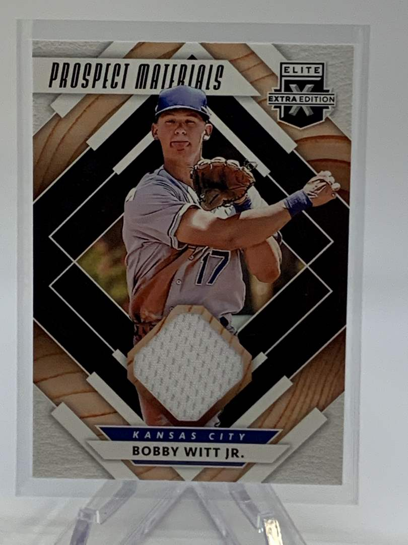 Lot # 254 2020 Panini Elite Extra Edition BOBBY WITT JR Prospect Materials (main image)