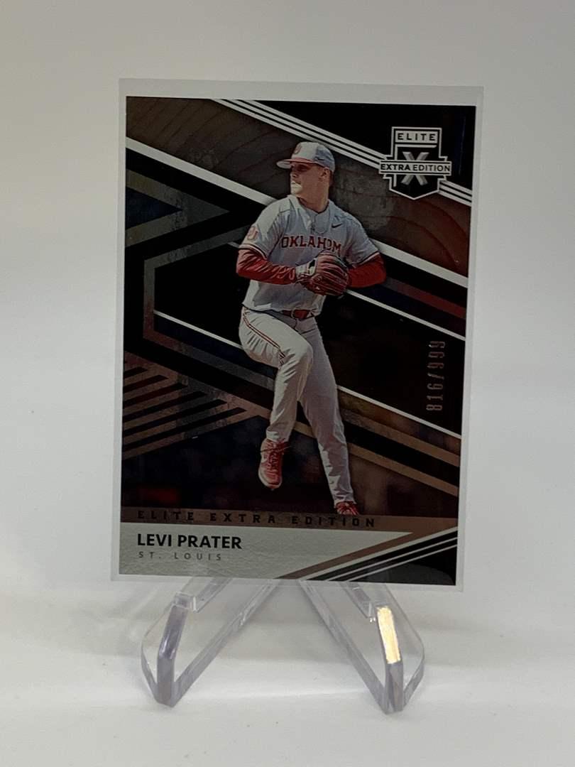 Lot # 256 2020 Panini Elite Extra Edition LEVI PRATER #816/999 (main image)