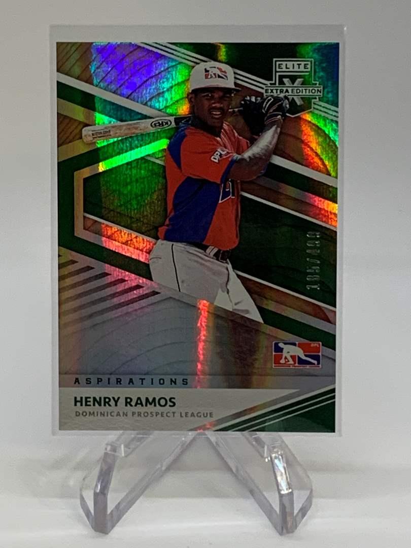 Lot # 263 2020 Panini Elite Extra Edition HENRY RAMOS #185/499 (main image)