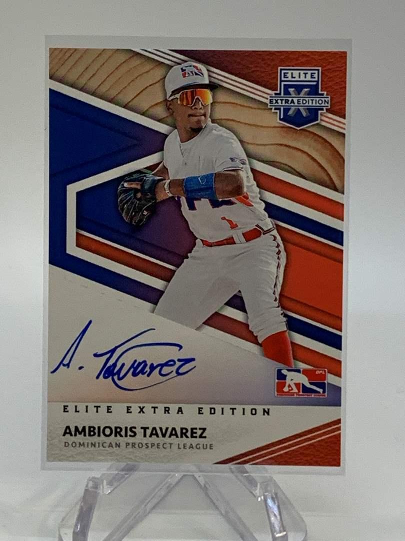Lot # 295 2020 Panini Elite Extra Edition AMBIORIS TAVAREZ On Card Auto (main image)