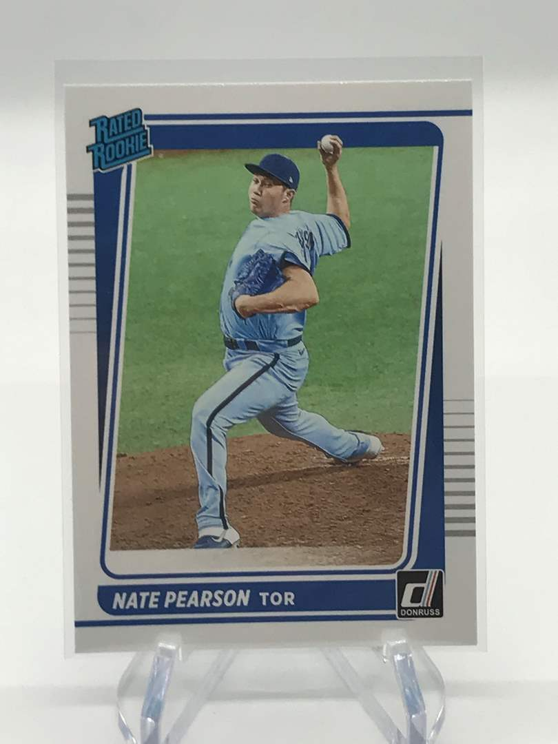 Lot # 7 2021 Panini Donruss Rated Rookie NATE PEARSON (main image)