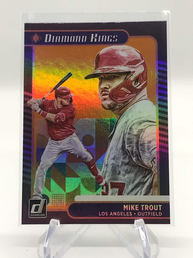 Lot # 17 2021 Panini Donruss Diamond Kings MIKE TROUT (main image)