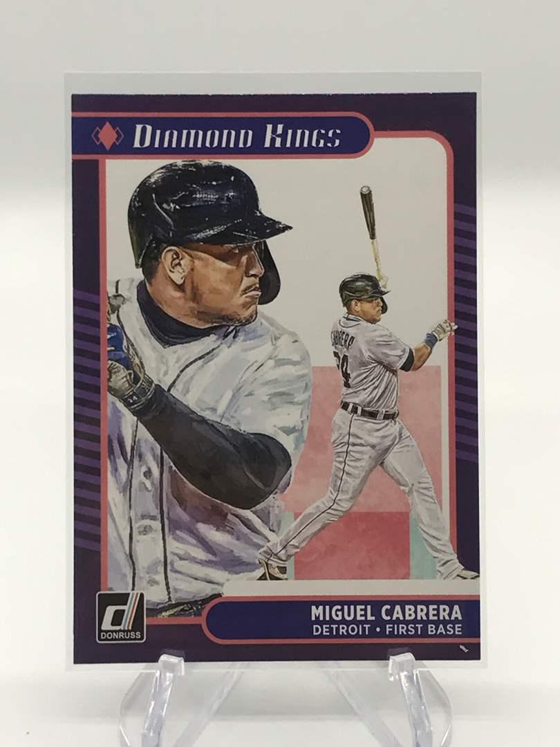 Lot # 20 2021 Panini Donruss Diamond Kings MIGUEL CABRERA (main image)