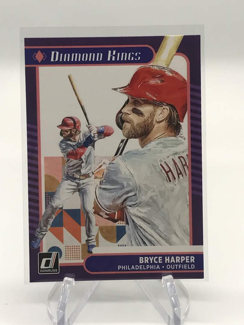 Lot # 21 2021 Panini Donruss Diamond Kings BRYCE HARPER (main image)