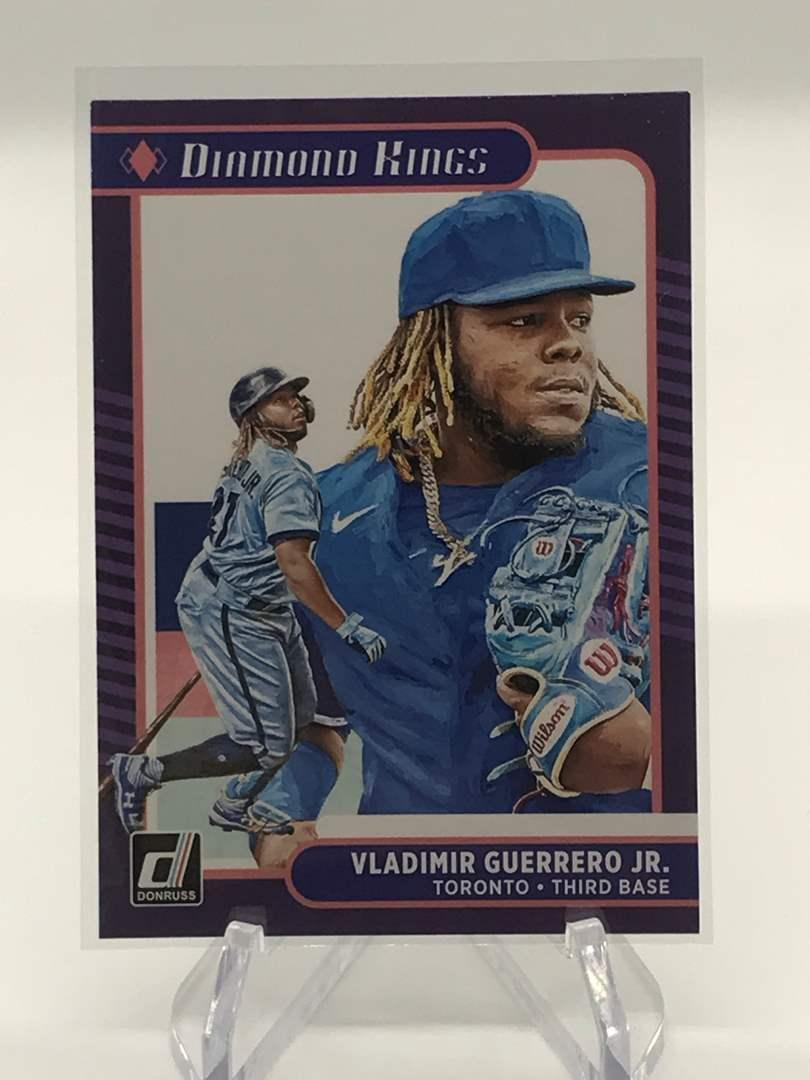Lot # 22 2021 Panini Donruss Diamond Kings VLADIMIR GUERRERO JR. (main image)