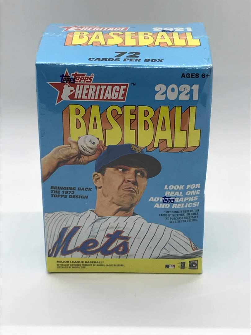 Lot # 61 2021 Topps Heritage Baseball Sealed Blaster Box (main image)