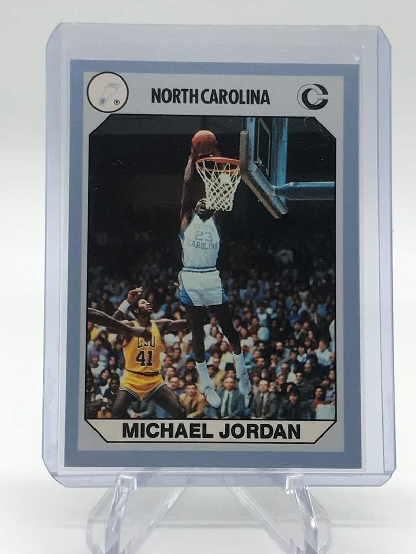 Lot # 65 1990 North Carolina Collegiate Collection MICHAEL JORDAN (main image)