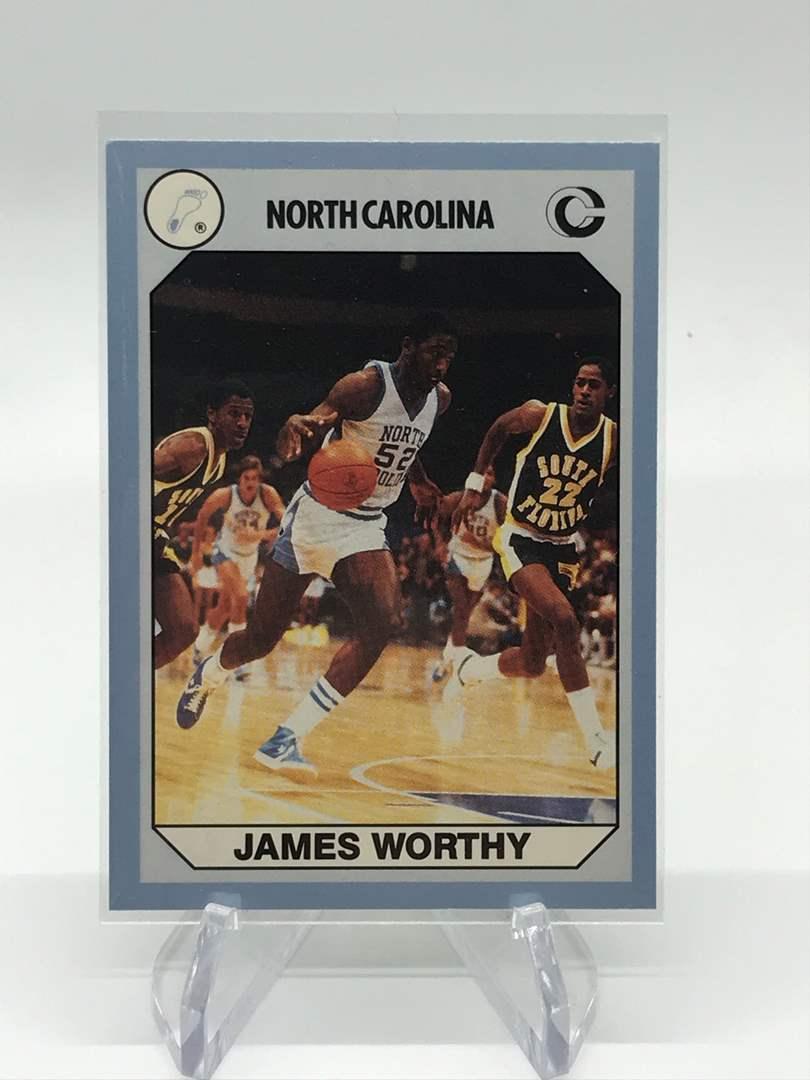 Lot # 67 1990 North Carolina Collegiate Collection JAMES WORTHY (main image)
