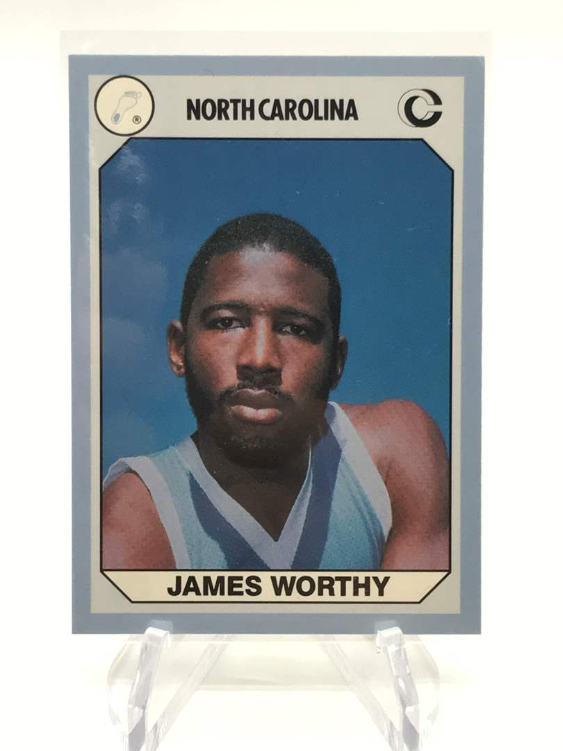Lot # 69 1990 North Carolina Collegiate Collection JAMES WORTHY (main image)
