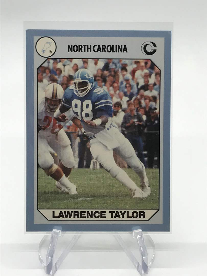 Lot # 70 1990 North Carolina Collegiate Collection LAWRENCE TAYLOR (main image)
