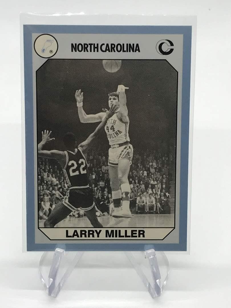Lot # 80 1990 North Carolina Collegiate Collection LARRY MILLER (main image)