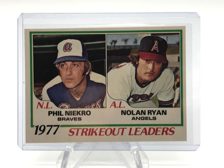 Lot # 94 1978 O-Pee-Chee PHIL NIEKRO/NOLAN RYAN (main image)
