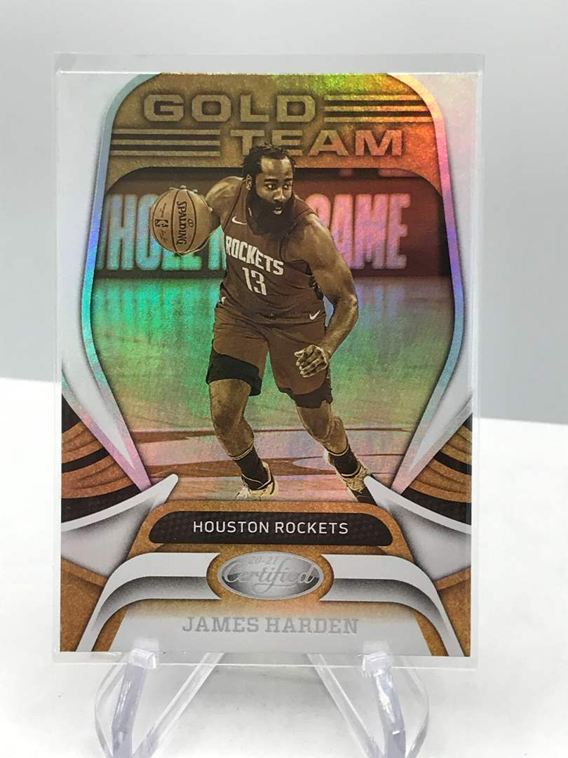 Lot # 111 2020-21 Panini Certified Gold Team JAMES HARDEN  (main image)