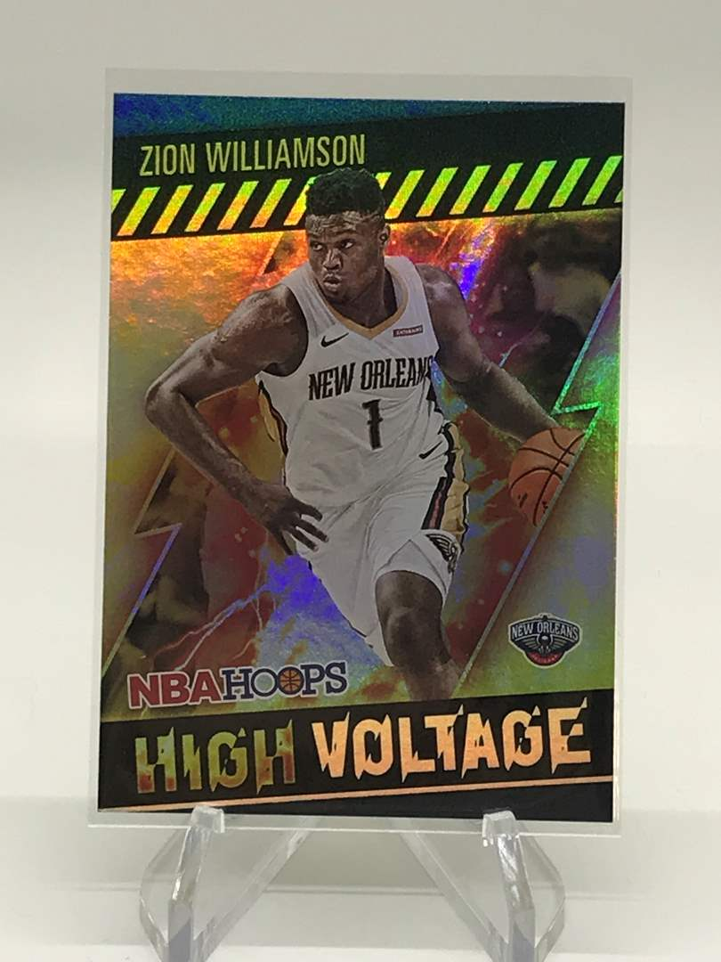 Lot # 150 2020-21 PANINI NBA HOOPS High Voltage ZION WILLIAMSON (main image)