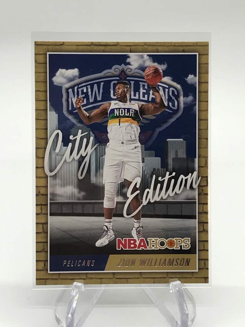 Lot # 151 2020-21 PANINI NBA HOOPS City Edition ZION WILLIAMSON (main image)