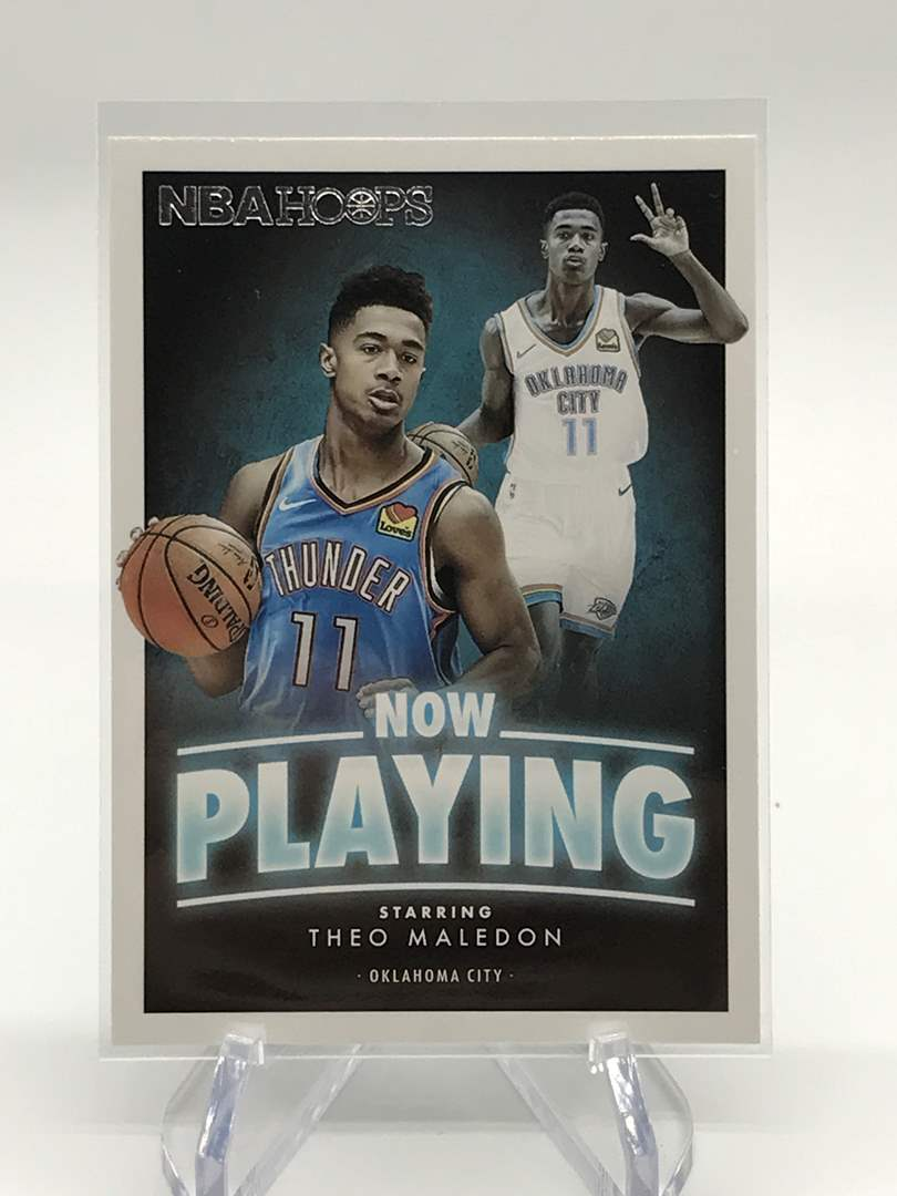 Lot # 156 2020-21 PANINI NBA HOOPS Now Playing THEO MALEDON (main image)
