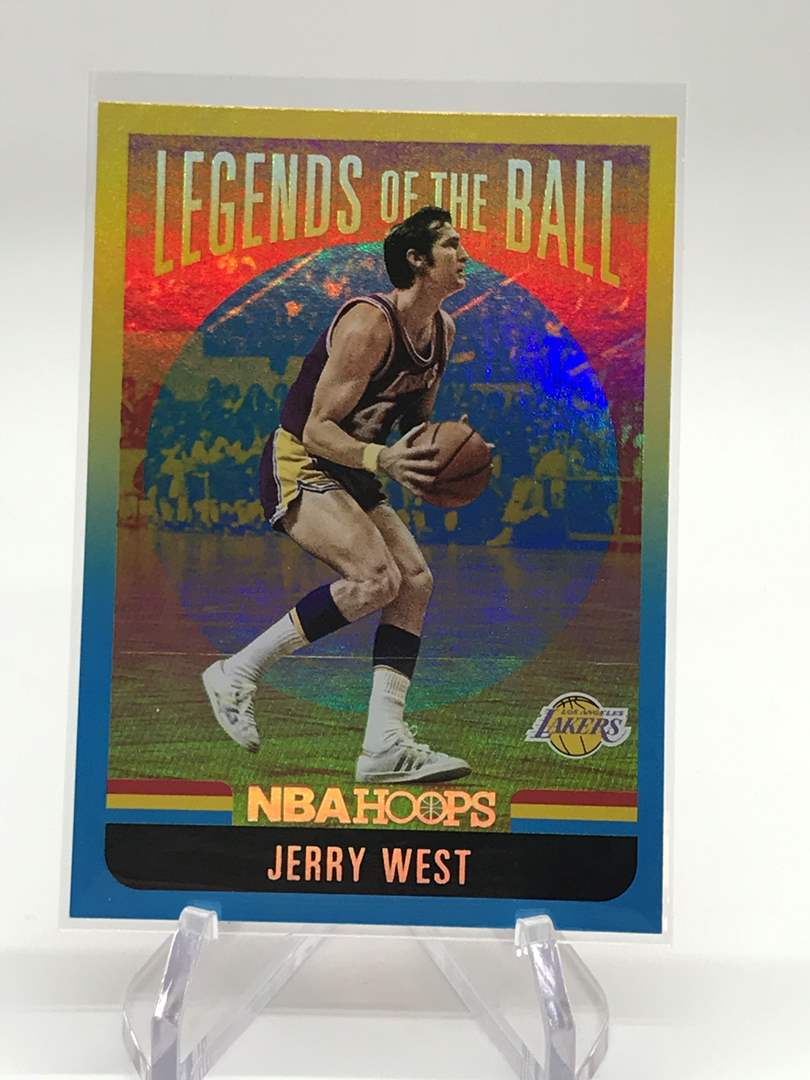 Lot # 158 2020-21 PANINI NBA HOOPS Legends of the Game JERRY WEST (main image)