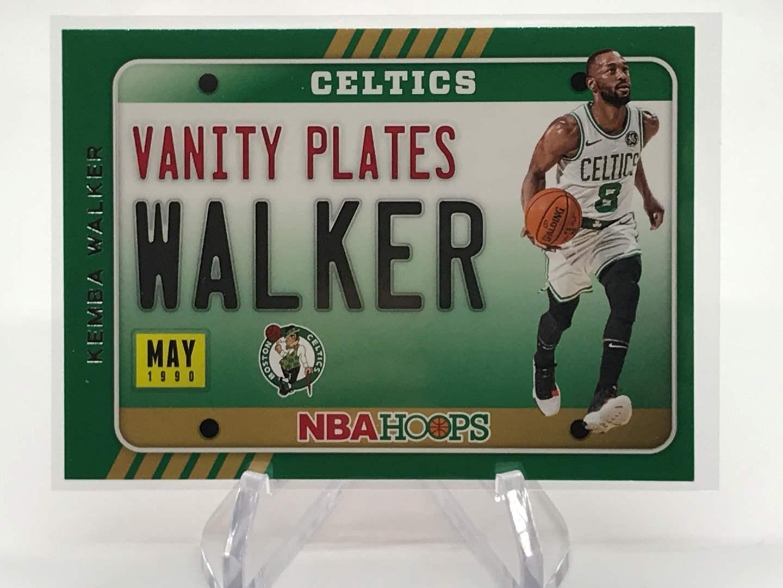 Lot # 160 2020-21 PANINI NBA HOOPS Vanity Plates KEMBA WALKER (main image)