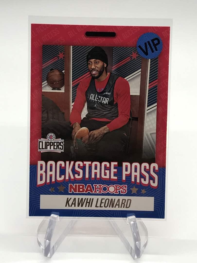 Lot # 170 2020-21 PANINI NBA HOOPS Backstage Pass KAWHI LEONARD (main image)