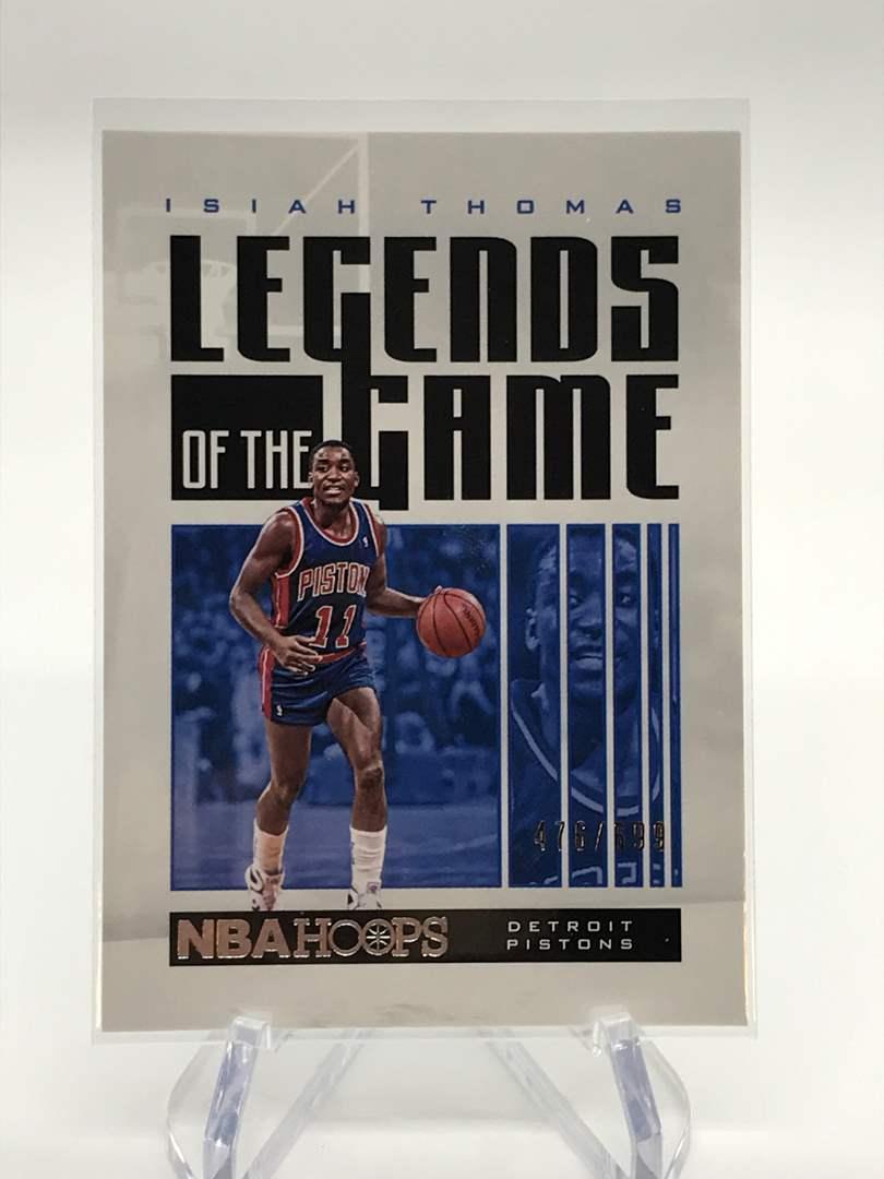 Lot # 171 2020-21 PANINI NBA HOOPS Legends ISIAH THOMAS 476/699 (main image)
